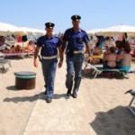 polizia spiaggia