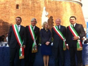 Sindaci Versilia storica e Ministro Stefania Giannini