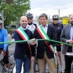 Carrara inaugura ponte parmignola: sindaco zubbani+ sindaco Cavarra