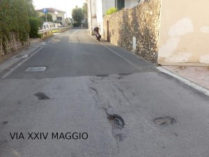 Buche via XXIV Maggio