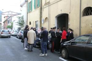 sgombero caserma carabinieri massa
