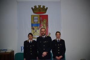 da sinistra la Dott.ssa Gloria FOGGI,al centro il dott. Cattaneo e a sinistra la dott.ssa LATTARULO