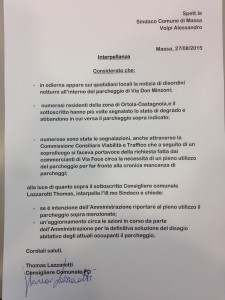 interpellanza lazzarotti