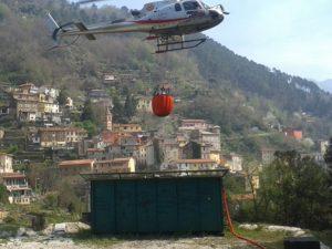 incendio casette elicottero 31 3 17